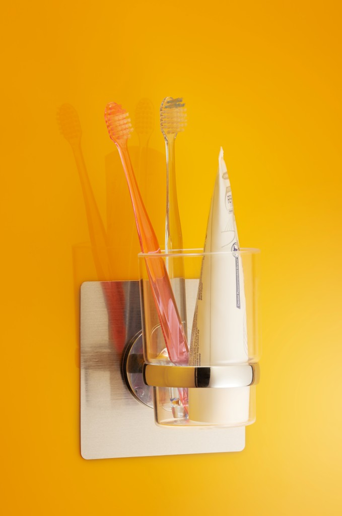 Chrome ToothBrush Holder 1